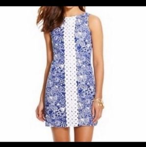 Lilly Pulitzer target blue and white fish dress